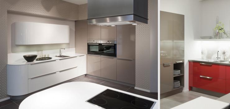 Kuche modern zweifarbig for Kuchenzeile streichen