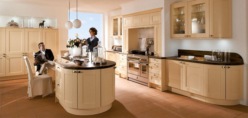 Eine runde Sache Küchenmöbel ohne Ecken und Kanten
